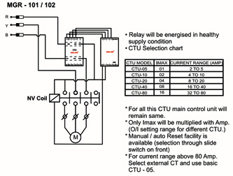 mgr-102 - phase failure with uv & ov relay